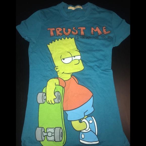 Mighty Fine Tops Bart Simpson Womens T Shirt Poshmark